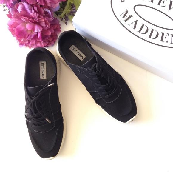 45fbe3c2152 New Steve Madden Black Rolf Sneaker Boutique